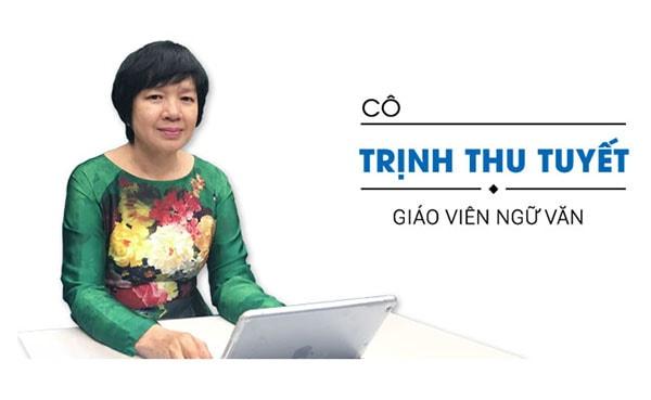 Cô Trịnh Thu Tuyết - giáo viên trường THPT Chu Văn An