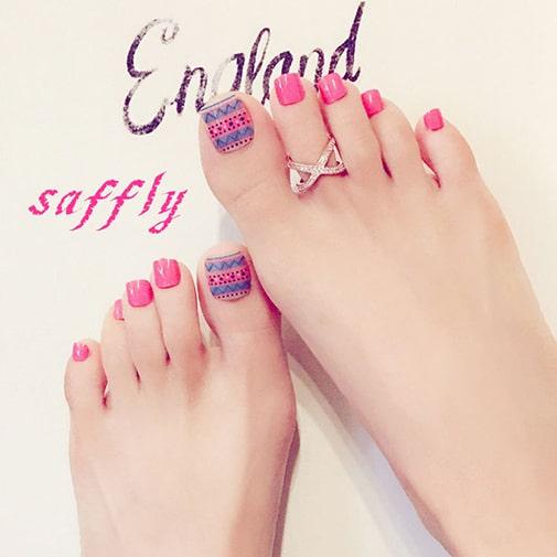 Mẫu móng chân đẹp