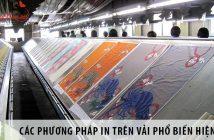 Các phương pháp in trên vải phổ biến hiện nay