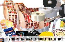 Địa chỉ in tem nhãn giá rẻ tại huyện Thạch Thất – Hà Nội